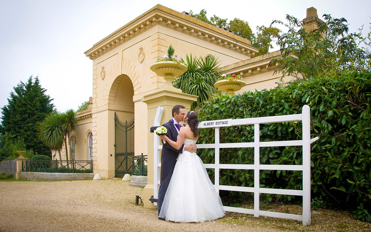 Couple by Royal gate