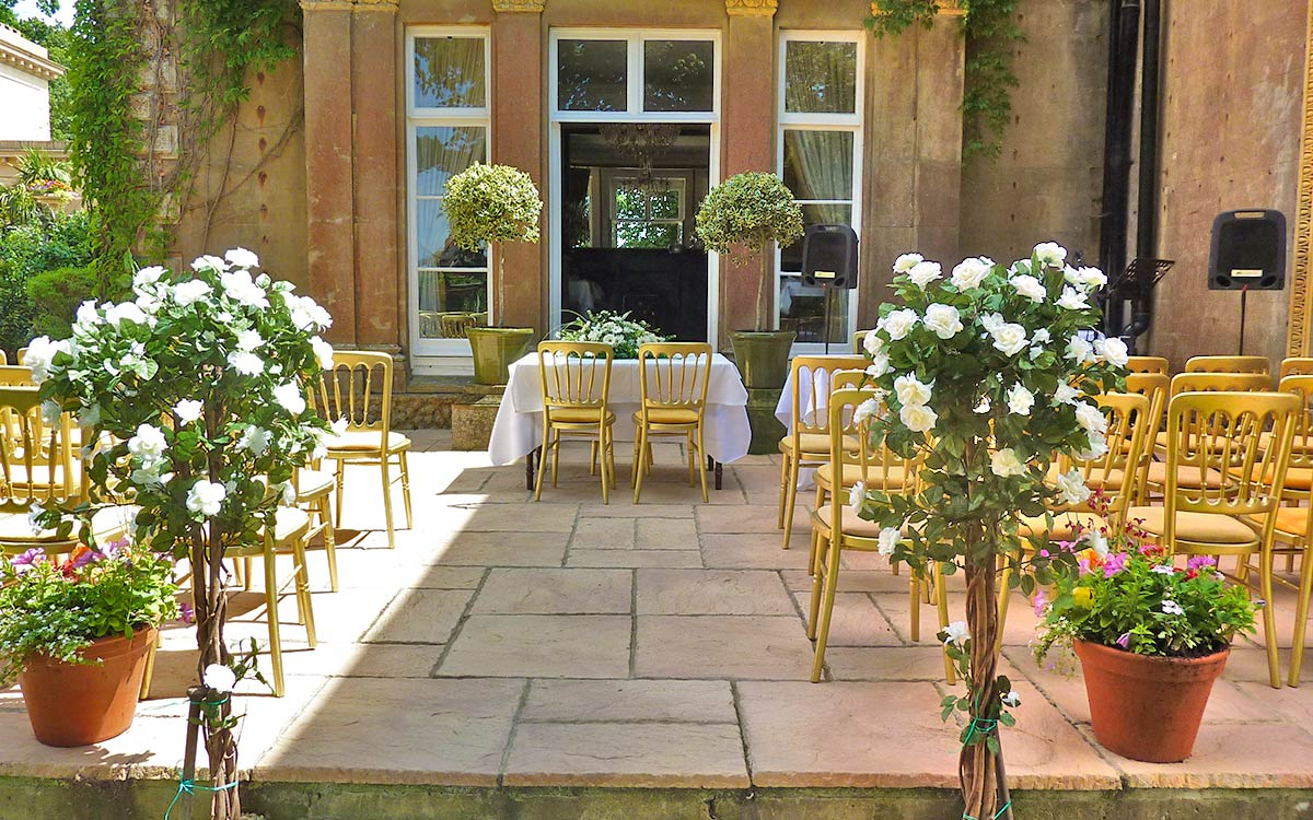 Victoria Room Terrace Set For Wedding