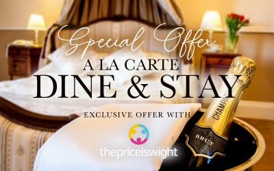 A La Carte Dine and Stay Package for Two just £119 – normally up to £177
